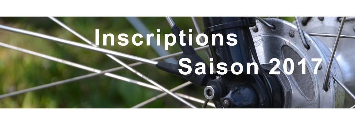 Inscriptions saison 2017
